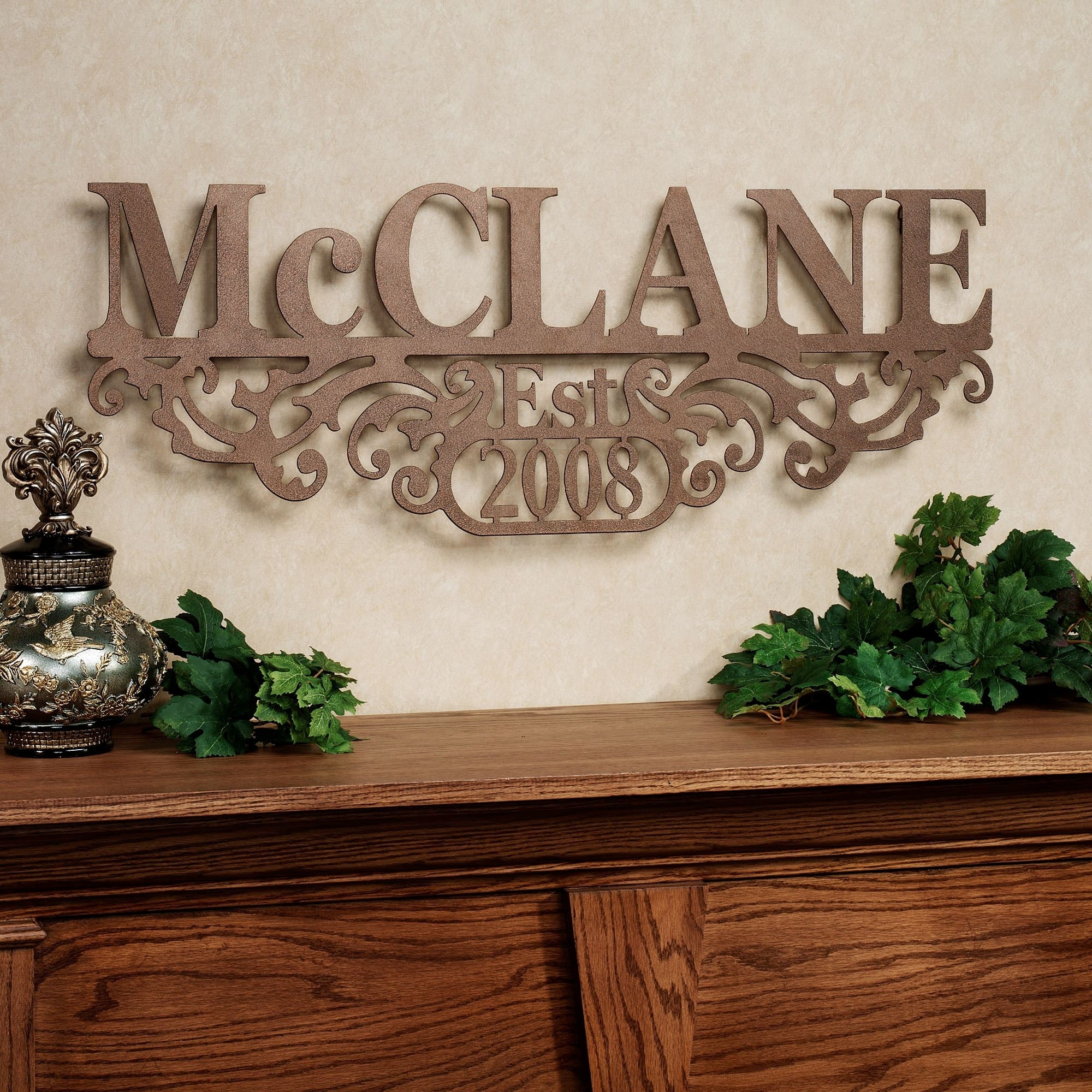 Kinship Bronze Family Name And Year Personalized Metal Wall Art Sign Within 2018 Family Name Wall Art (View 9 of 20)