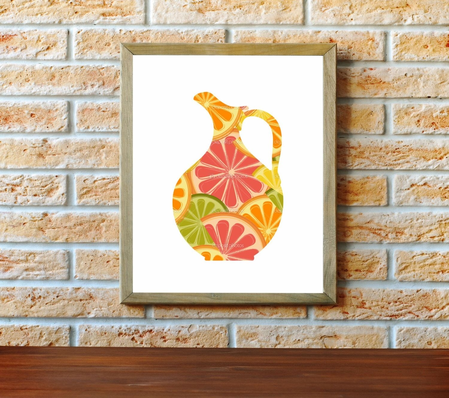 Kitchen Art Print, Dining Wall Decor, Orange Lemon & Lime, Kitchen Throughout Best And Newest Lemon Wall Art (Gallery 16 of 20)