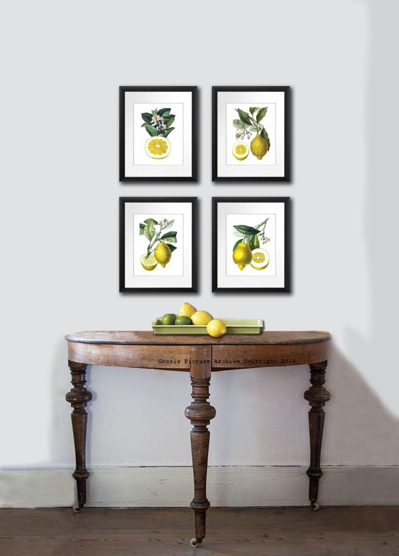 Kitchen Decor, Lemons Print, Kitchen Art, Fruit Print. Citrus Fruit throughout Most Current Lemon Wall Art