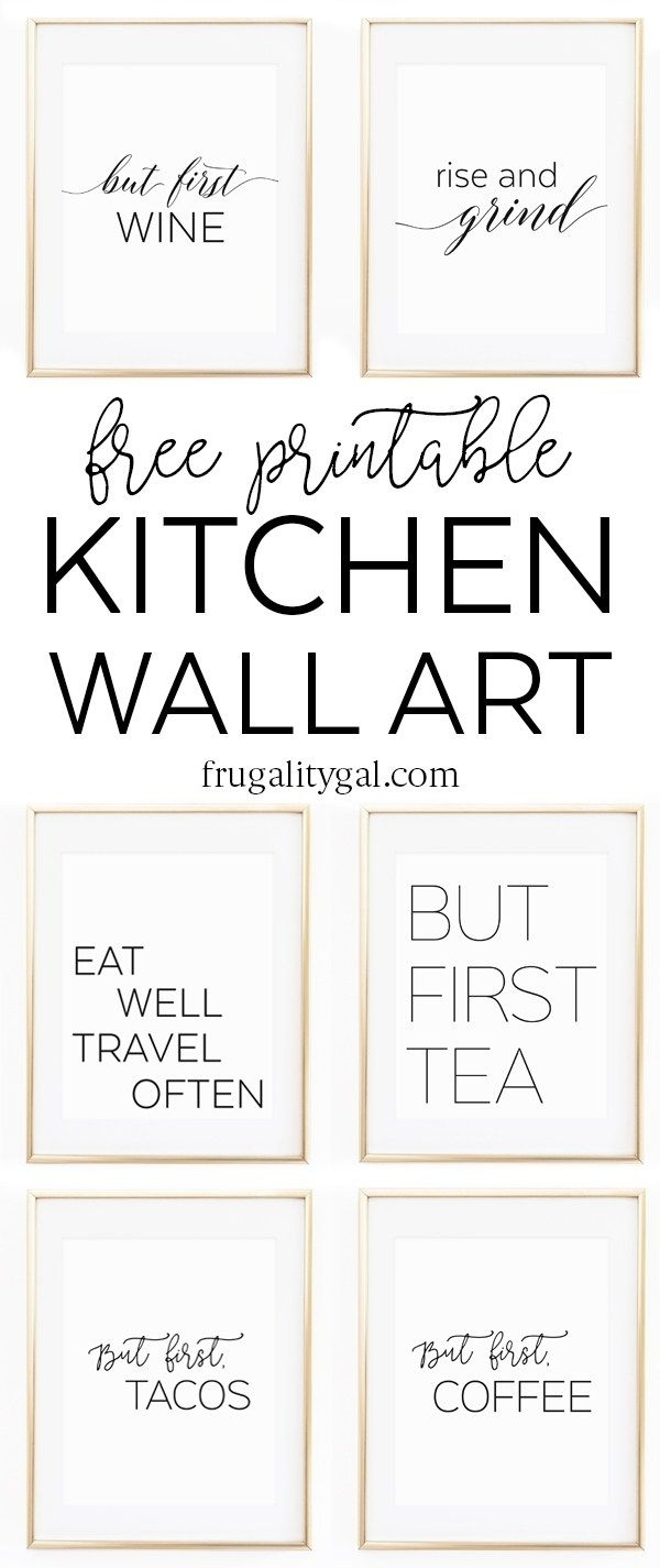 Kitchen Gallery Wall Printables | Free Printable Wall Art With Regard To Most Current Free Printable Wall Art (Gallery 3 of 20)