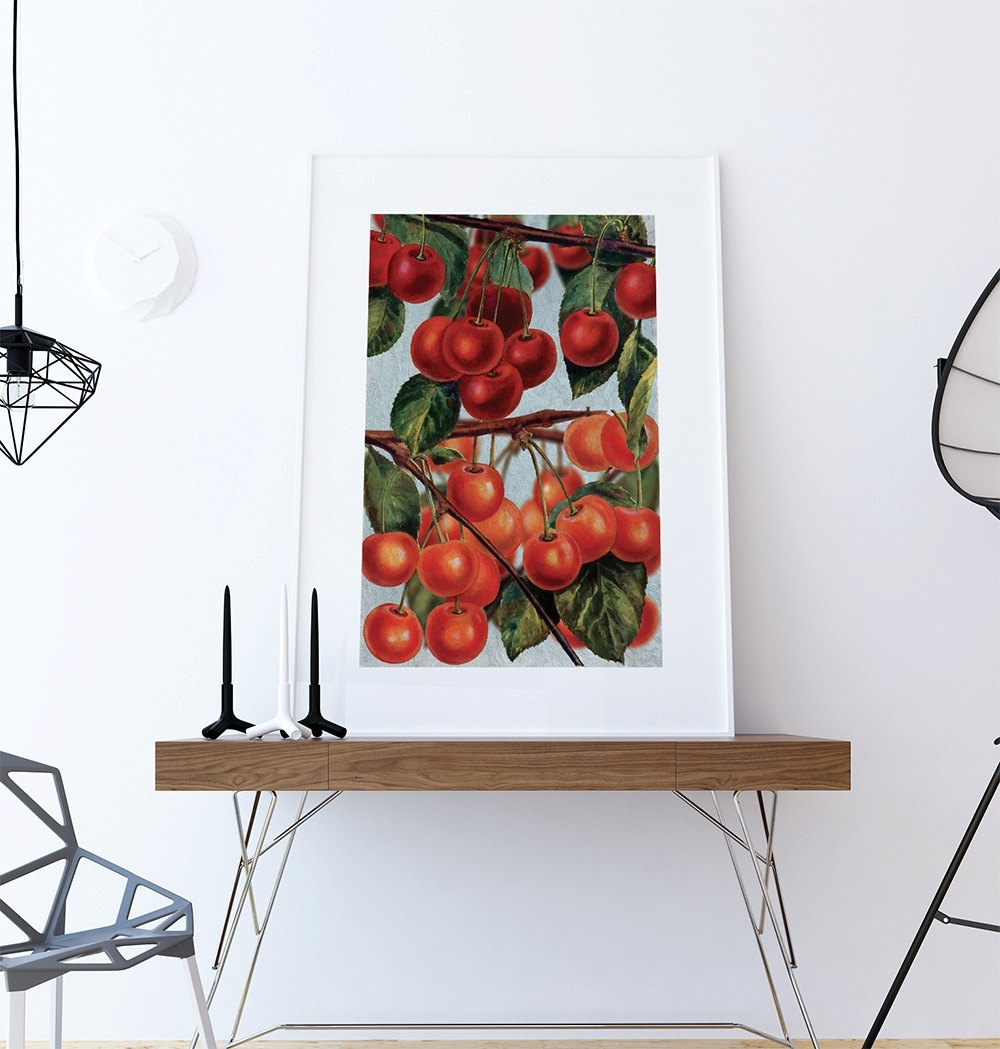 Kitchen Wall Art Cherries Print Kitchen Print Food Photograph Fruit Inside Most Recent Wall Art For Kitchen (View 14 of 20)