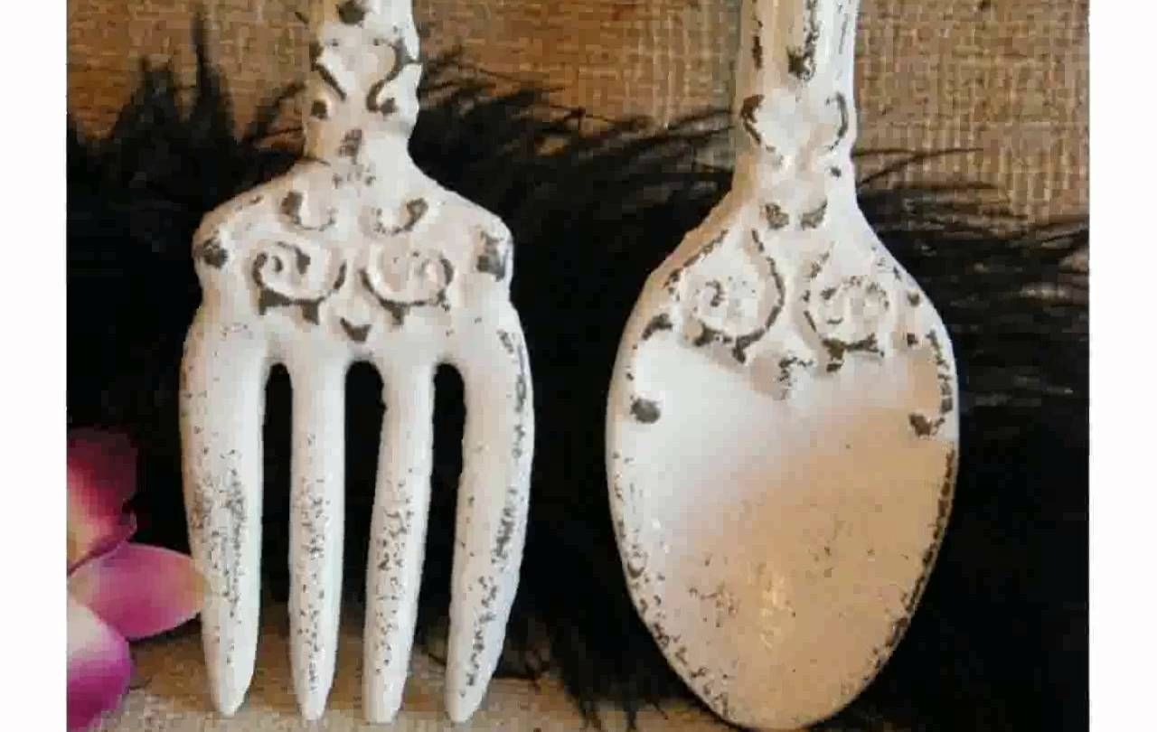 Kitchen Wall Decor Fork And Spoon – Youtube Within Current Fork And Spoon Wall Art (View 8 of 20)