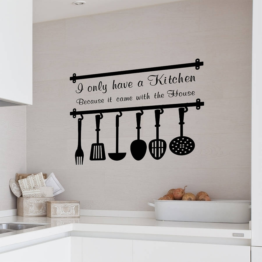 Kitchen Wall Decor Sayings Vinyl For Quotes Decals On Family Words Pertaining To Most Up To Date Wall Art Sayings (View 8 of 20)