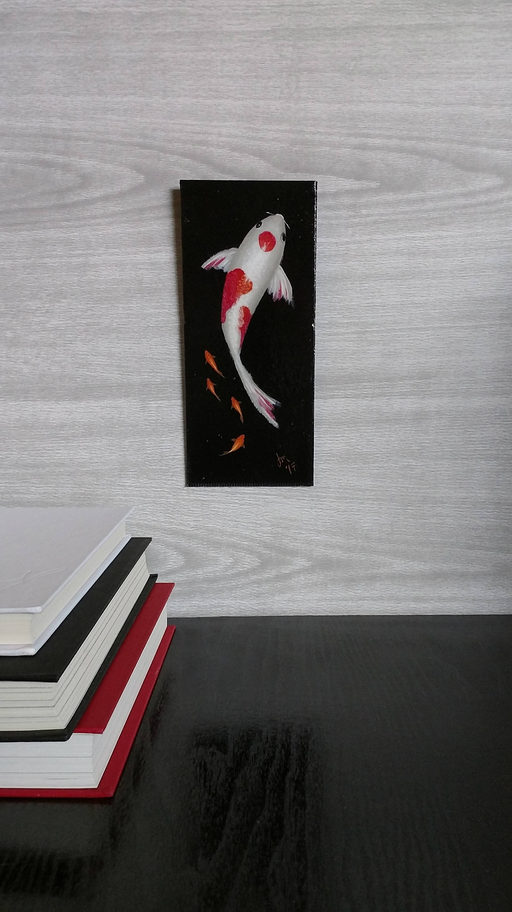 Koi Fish Painting – Goldfish – Wall Art – Painted Fish – Red And With Most Up To Date Fish Painting Wall Art (Gallery 14 of 20)