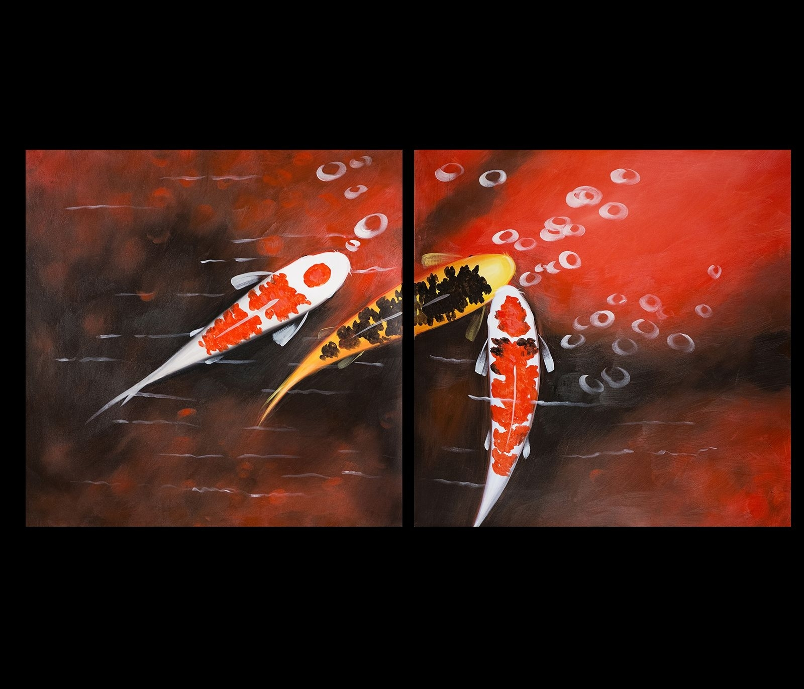 Koi Fish Wall Art Contemporary Art Modern Wall Art Décor Print On For Newest Fish Painting Wall Art (View 15 of 20)