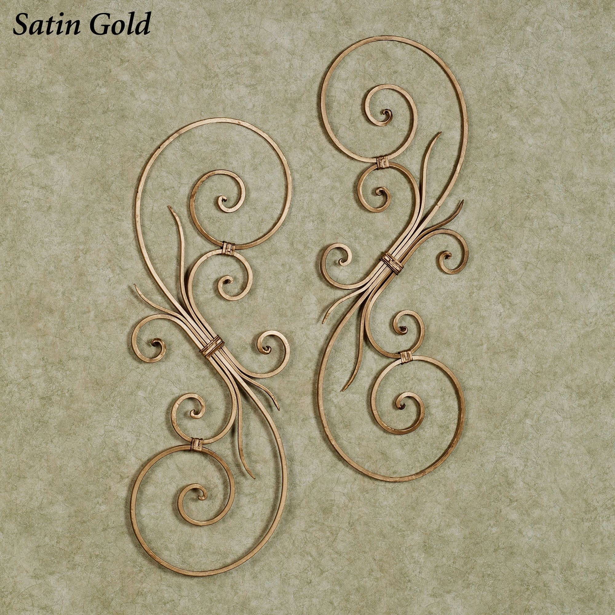 La Casiola Scroll Wall Art pertaining to Current Metal Scroll Wall Art