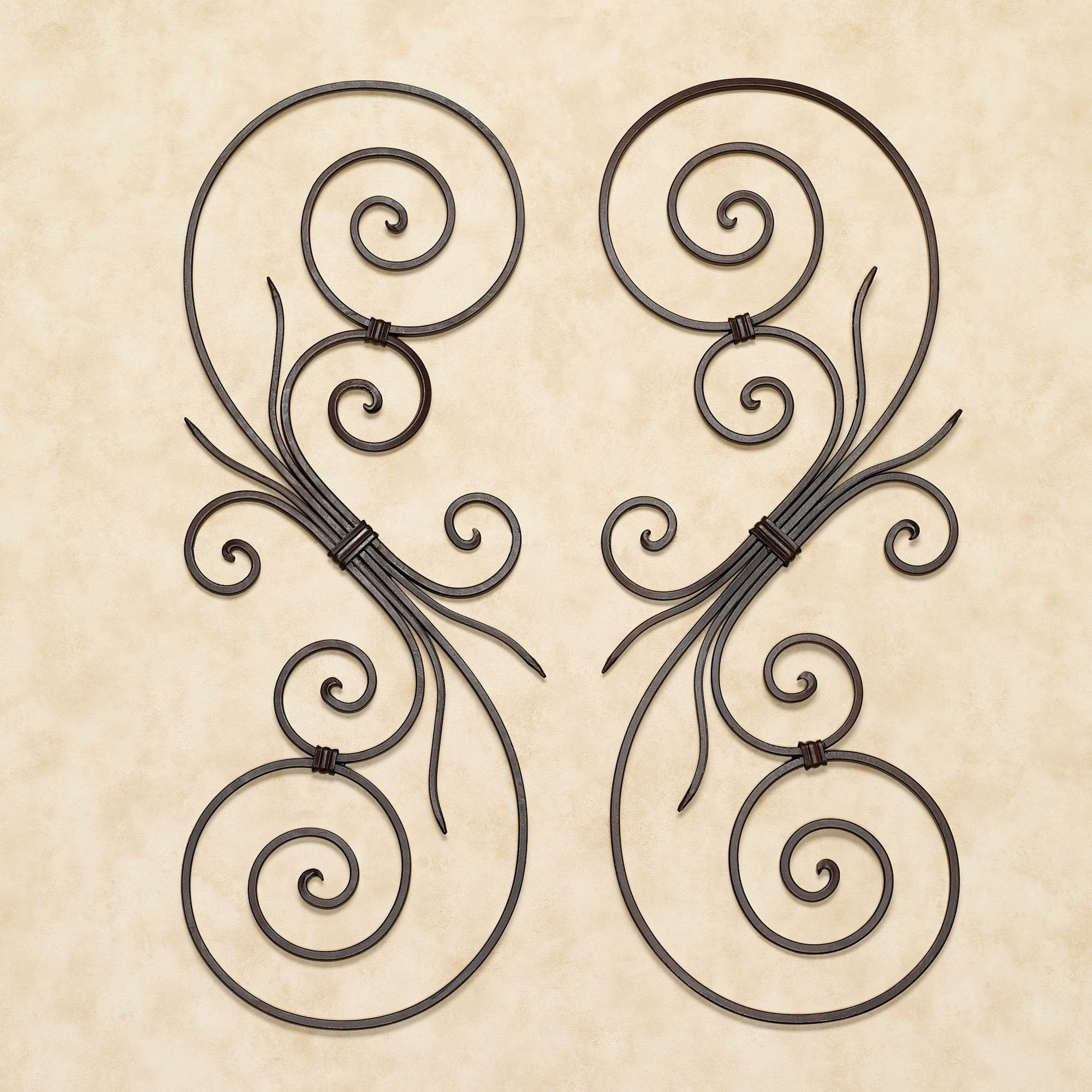 La Casiola Scroll Wall Art | Walls, Iron Decor And Curtain Ties With Regard To 2018 Metal Scroll Wall Art (View 16 of 20)