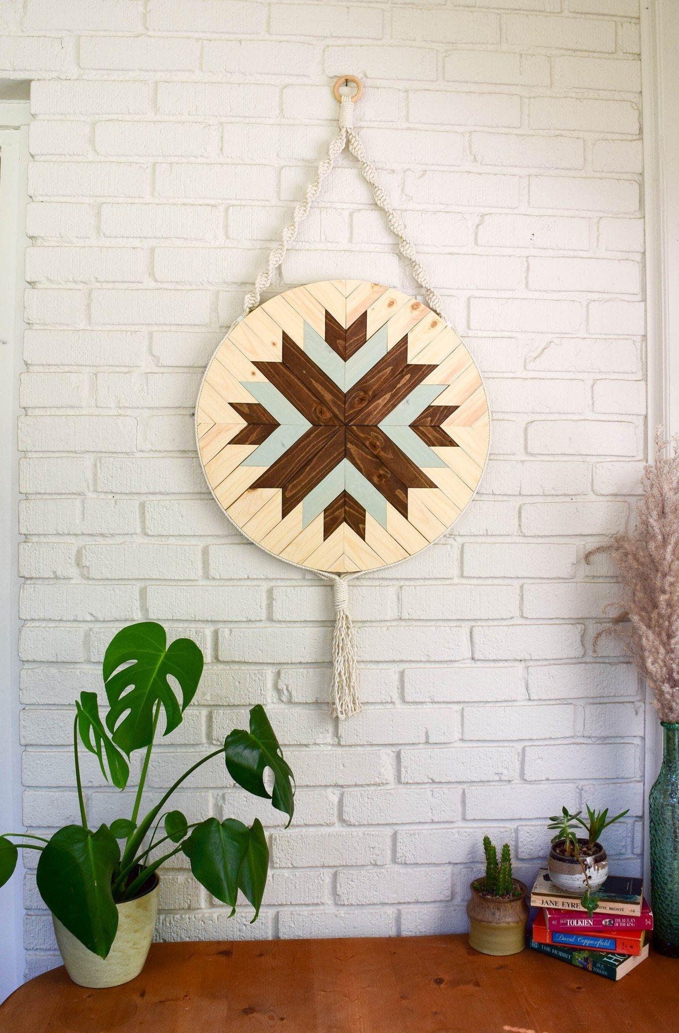 Labyrinth - Round Macrame Wood Wall Art Hanging | Pinterest | Wood intended for 2018 Round Wood Wall Art