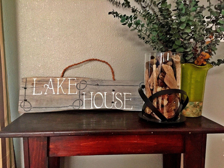 Lake House Sign - Lake House Decor - Lake House Wall Art - Lake Life for Recent Lake House Wall Art