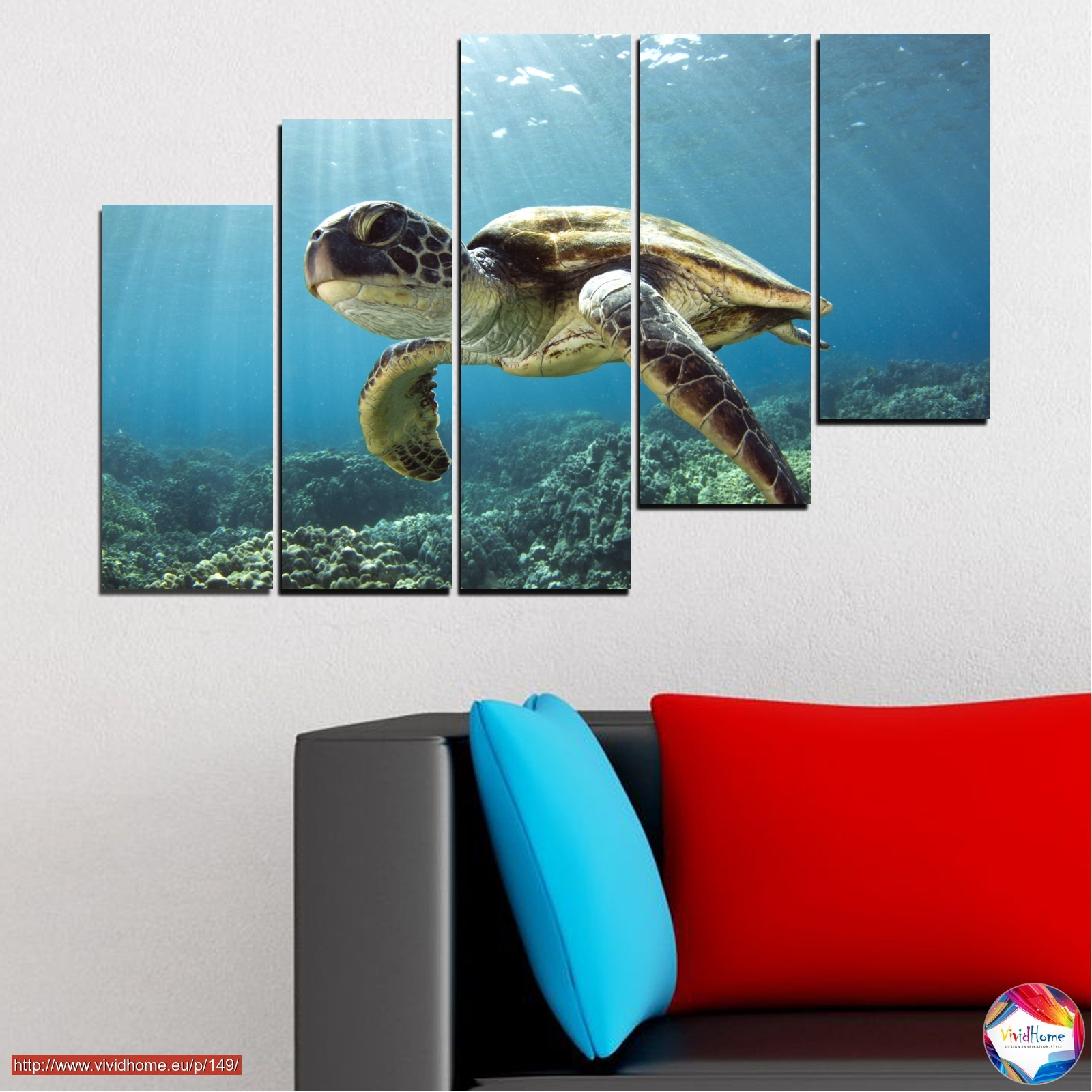 Landscape, Water, Sea, Turtle ?0149 With Regard To Most Up To Date Sea Turtle Canvas Wall Art (Gallery 8 of 20)