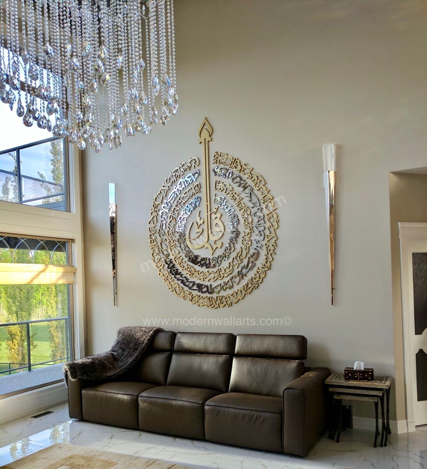 Large 4 Qul Art. Modern Contemporary Islamic Callligraphy Art Intended For 2017 Modern Wall Art (Gallery 10 of 15)