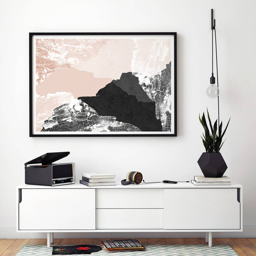 Large Abstract Wall Art Print Living Room Artbronagh Kennedy pertaining to Best and Newest Living Room Wall Art