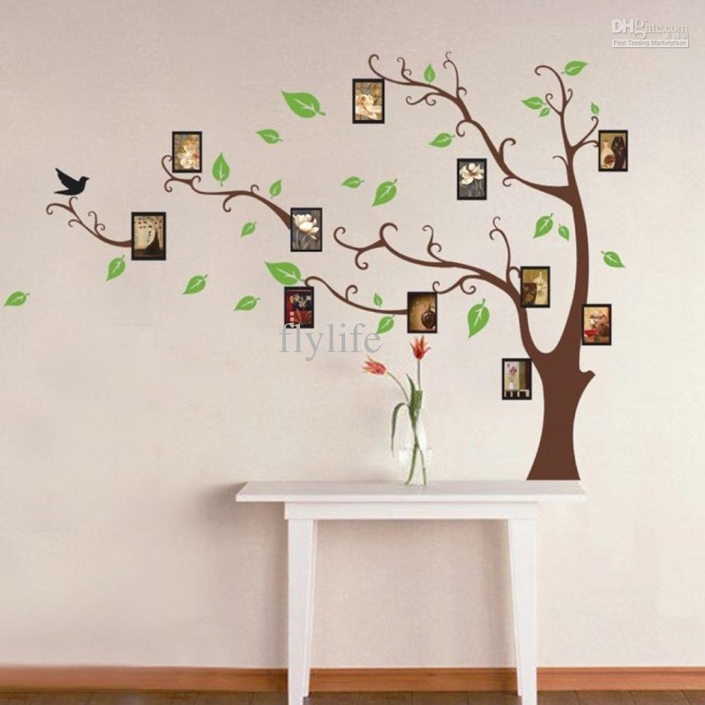 Large Art Photo Frames Tree Wall Decor Stickers Green Leaves On The inside Current Home Decor Wall Art