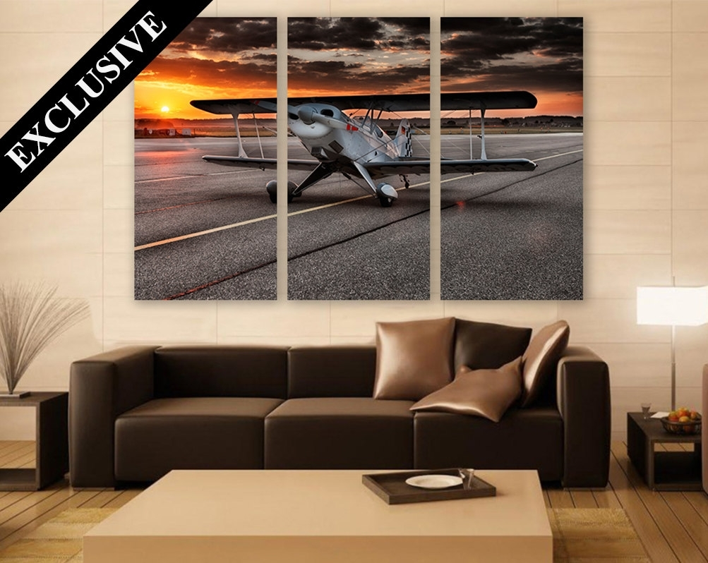 Large Aviation Wall Art – Elitflat With Recent Aviation Wall Art (View 14 of 20)