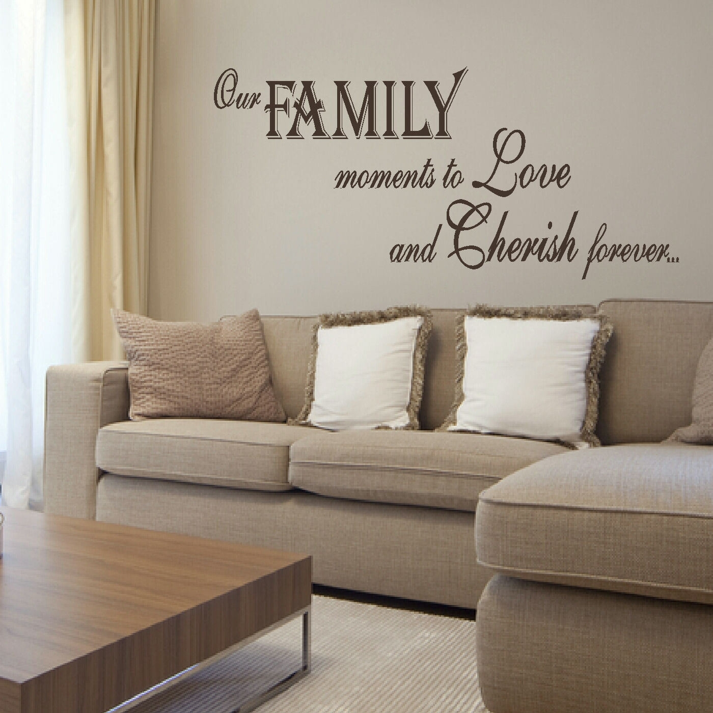 Large Bedroom Quote Family Love Giant Wall Art Sticker Transfer Throughout Most Recent Giant Wall Art (Gallery 3 of 20)