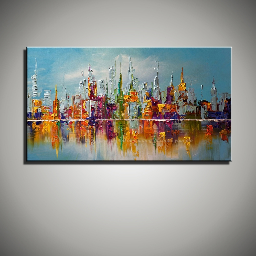 Large Canvas Oil Paintings Large Canvas Wall Art Abstract Modern With Most Up To Date Modern Painting Canvas Wall Art (View 14 of 20)