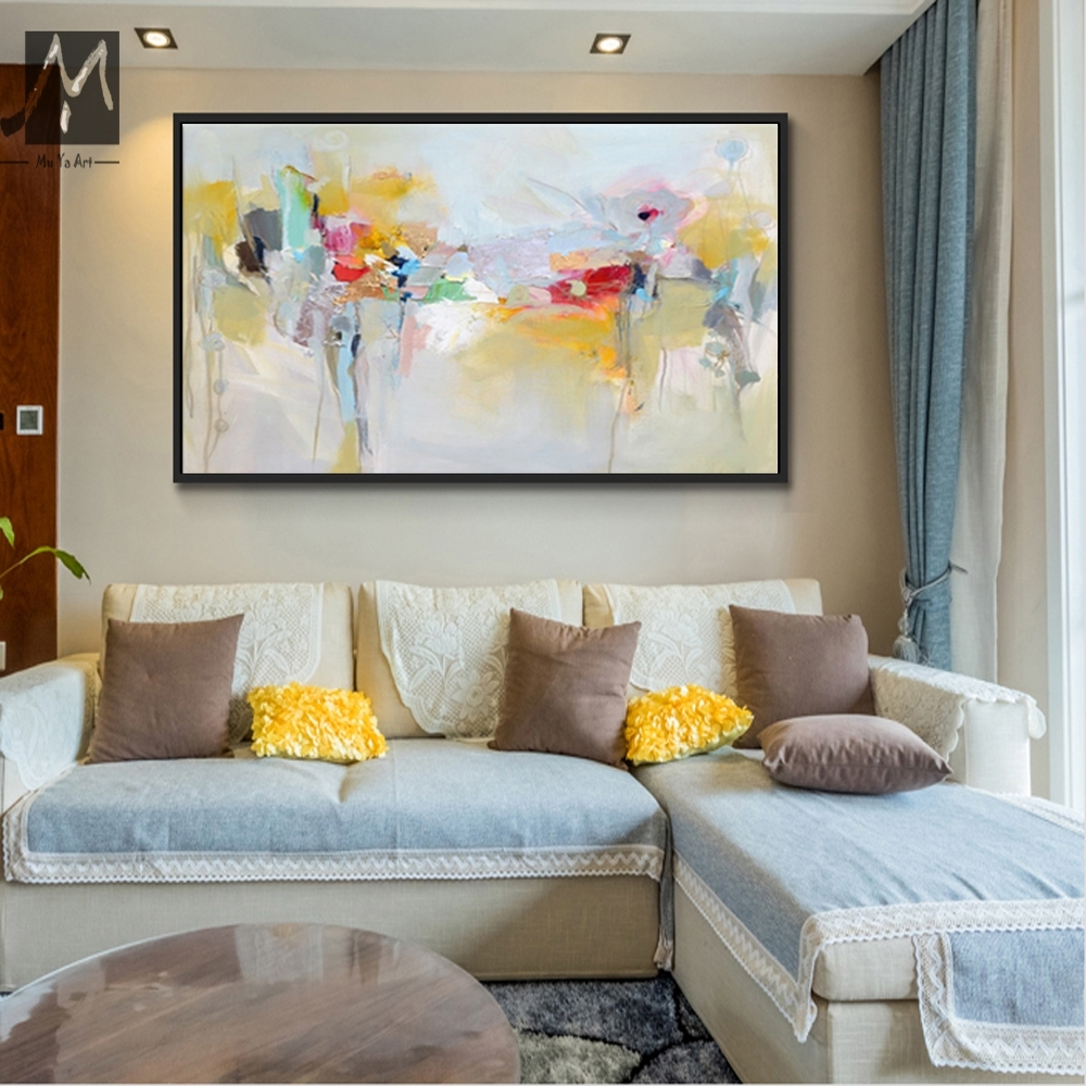 Large Canvas Wall Art Acrylic Painting Modern Paintings Wall In Latest Modern Large Canvas Wall Art (Gallery 8 of 20)