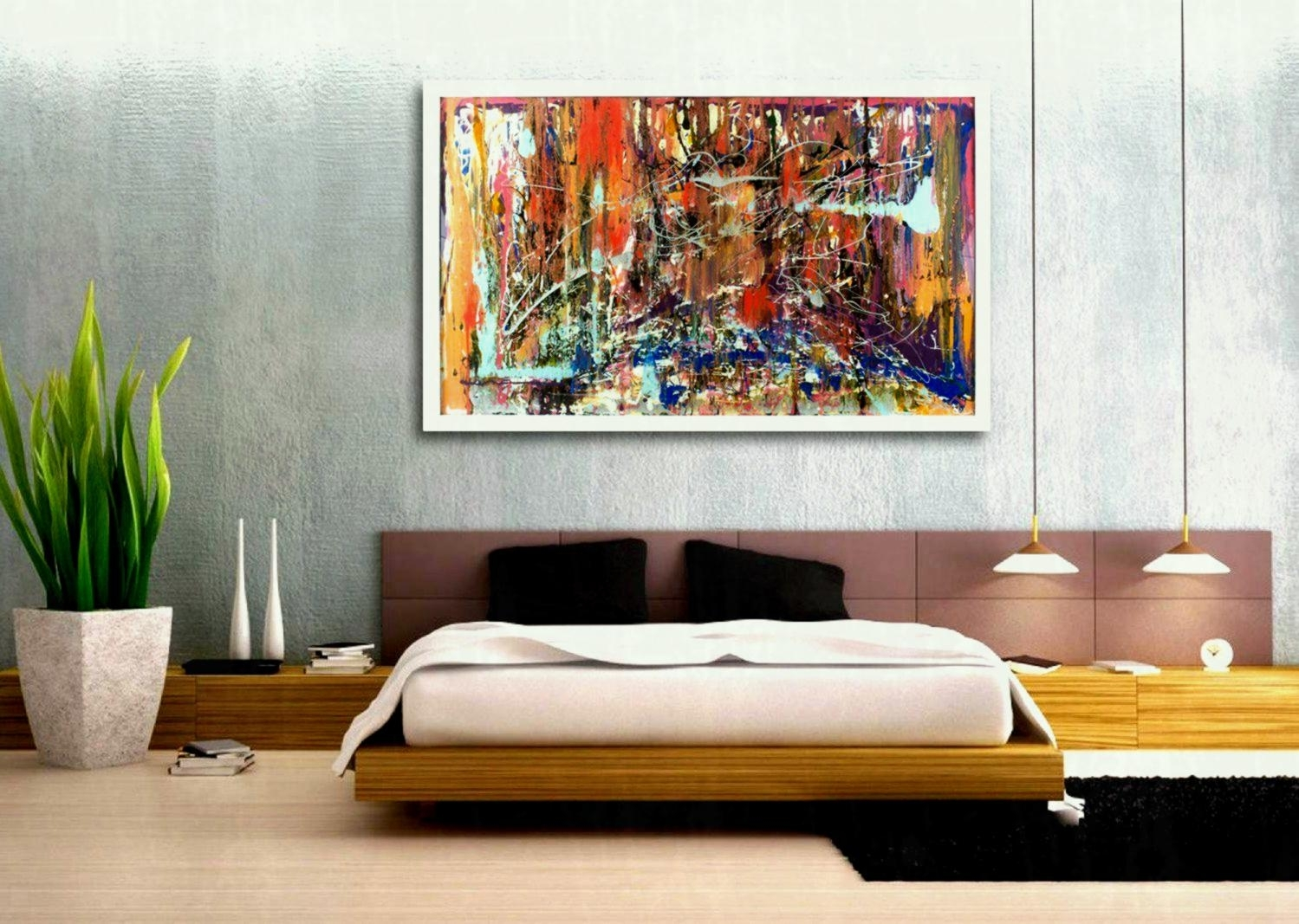 Large Canvas Wall Art Calm Soothing Huge Cheap Piece Living Room For 2018 Cheap Large Canvas Wall Art (View 19 of 20)