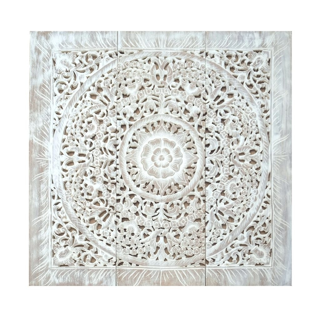 Large Carved Wood Wall Panels Wall Arts Carved Wood Wall Art Panels intended for Newest Carved Wood Wall Art