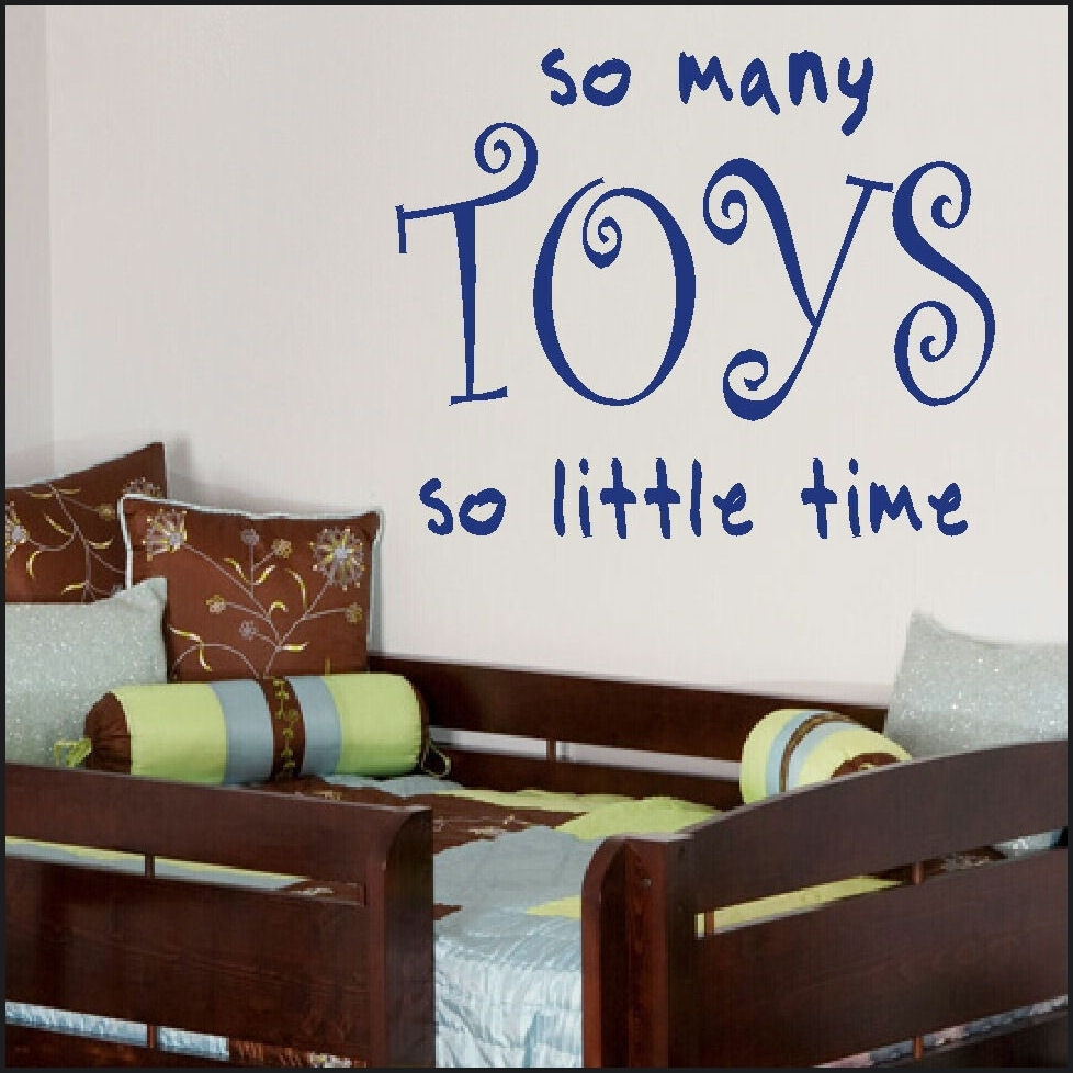 Large Childrens Bedroom Play Room Toys Big Quote Giant Wall Art Inside Recent Giant Wall Art (View 11 of 20)