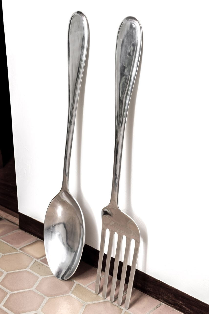 Large Fork And Spoon Wall Hanging | Kitchen Ideas | Pinterest Pertaining To Most Recently Released Fork And Spoon Wall Art (View 9 of 20)