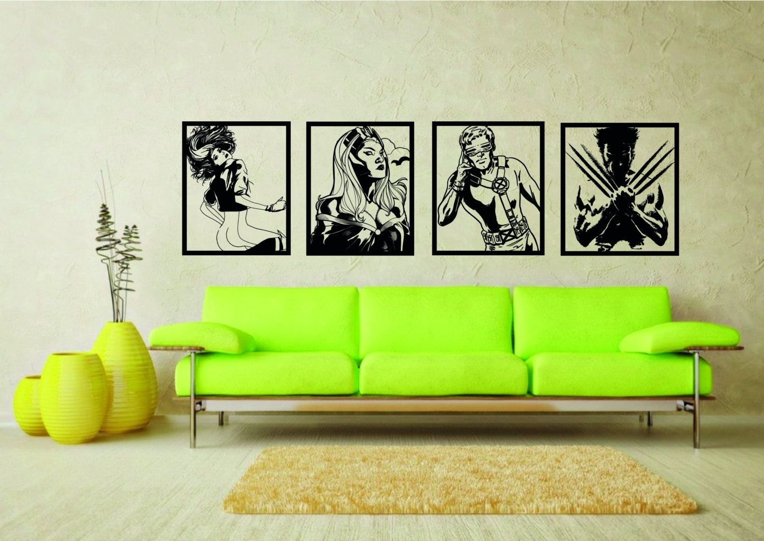 Large #marvel Comics X Men Wall Art #stickers - #vinyl Sticker Mural pertaining to Current Wall Art For Men