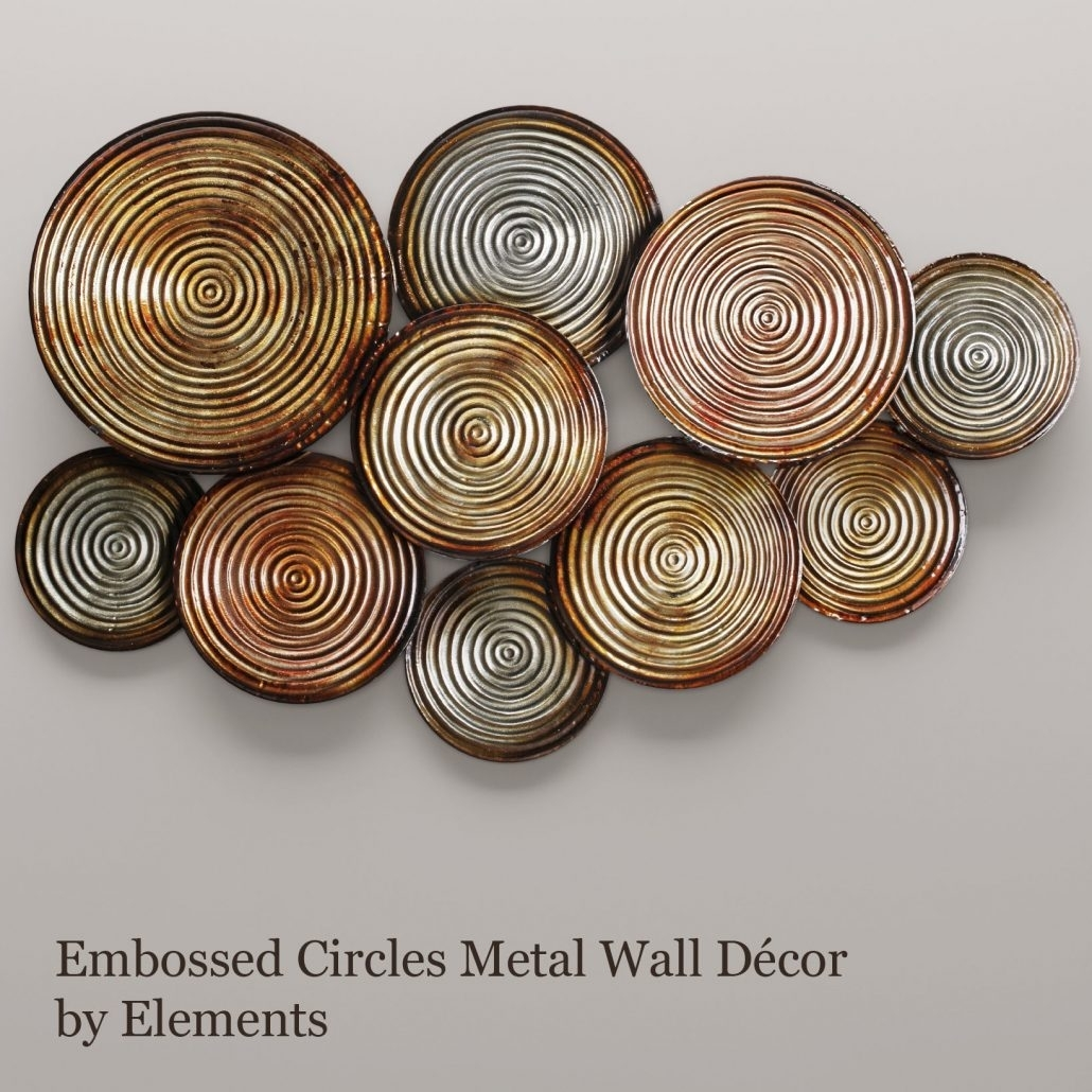 Large Metal Circle Wall Art Colors Tuscan Bronze Connecting Decor With Regard To 2018 Circle Wall Art (View 8 of 20)