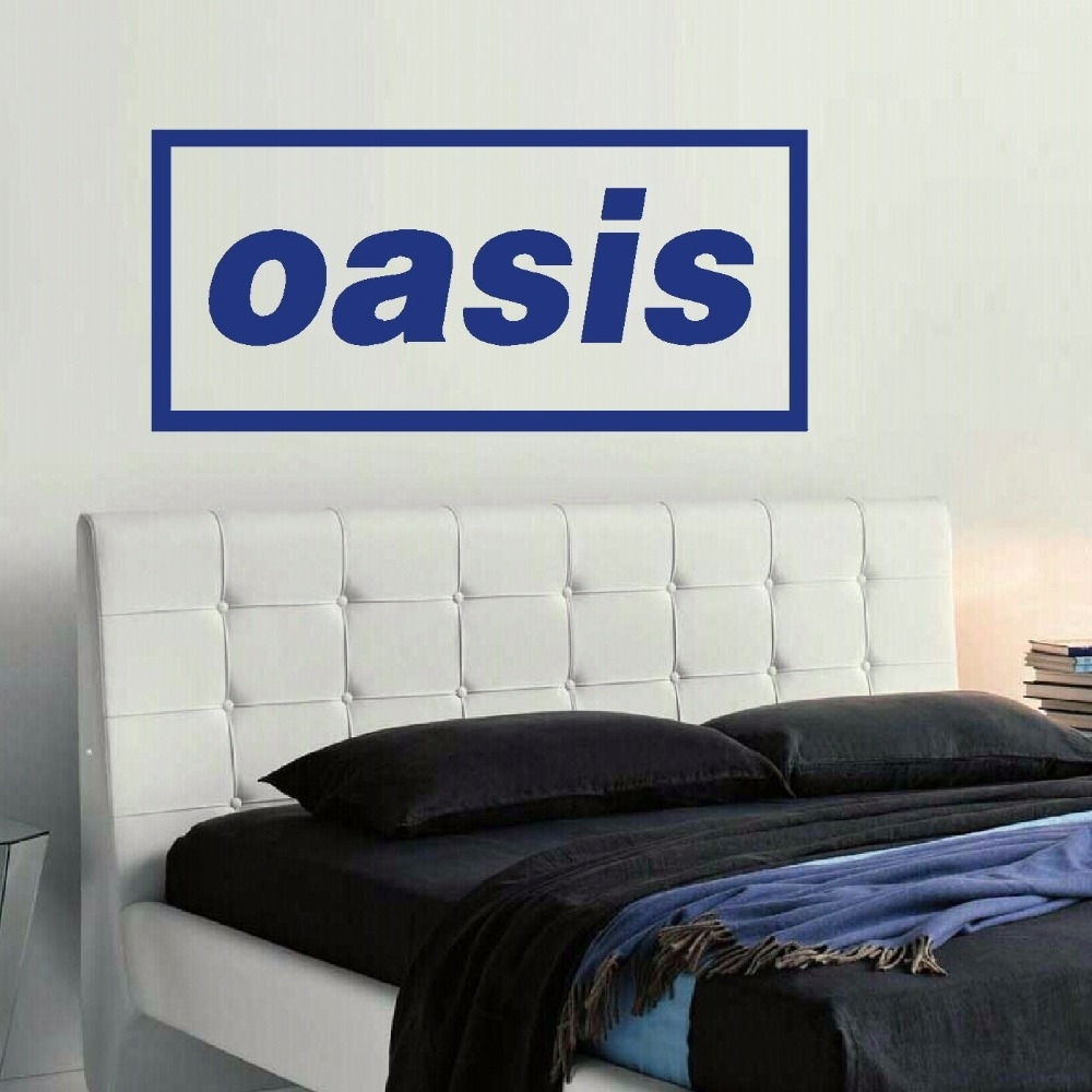 Large Music Band Logo Oasis Liam Bedroom Giant Wall Art Sticker Self For Best And Newest Giant Wall Art (View 15 of 20)