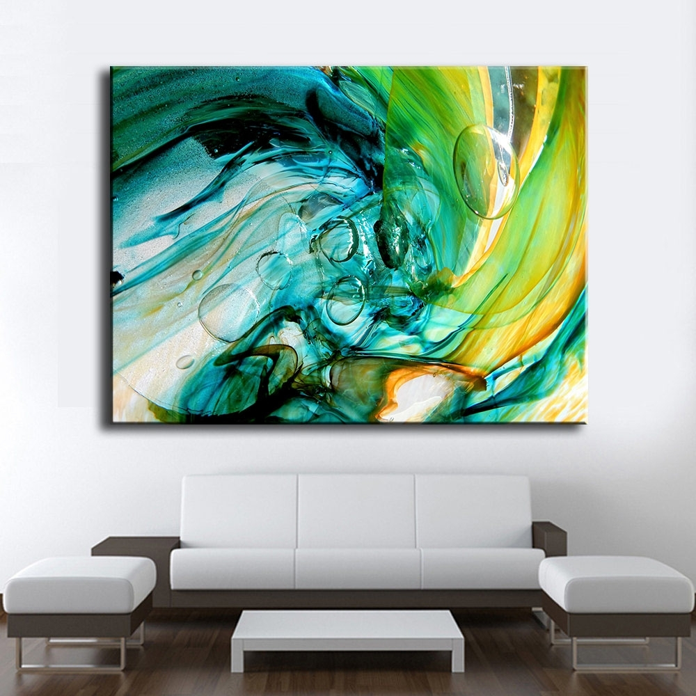Large Size Print Oil Painting Wall Painting Glass Blowing Art Home In Newest Glass Wall Art (View 10 of 15)