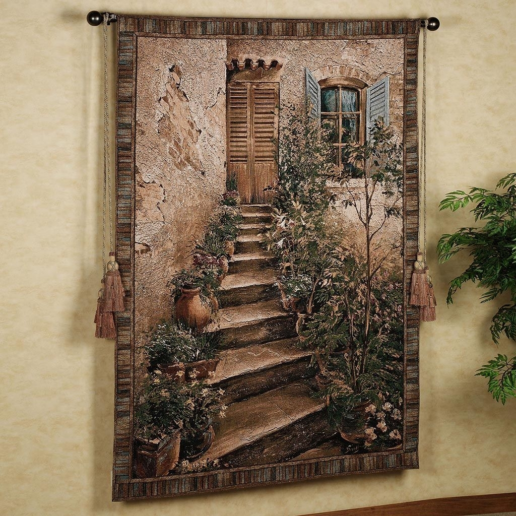 Large Tuscan Wall Tapestries | Furniture | Pinterest | Wall Throughout Recent Tuscan Wall Art (Gallery 10 of 20)