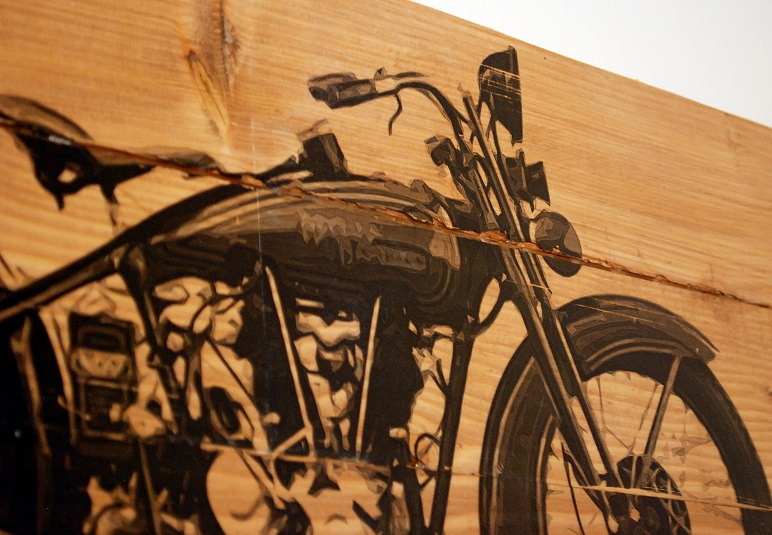 Large Vintage 1928 Harley Davidson Motorcycle Wall Art On, Harley for Most Up-to-Date Harley Davidson Wall Art