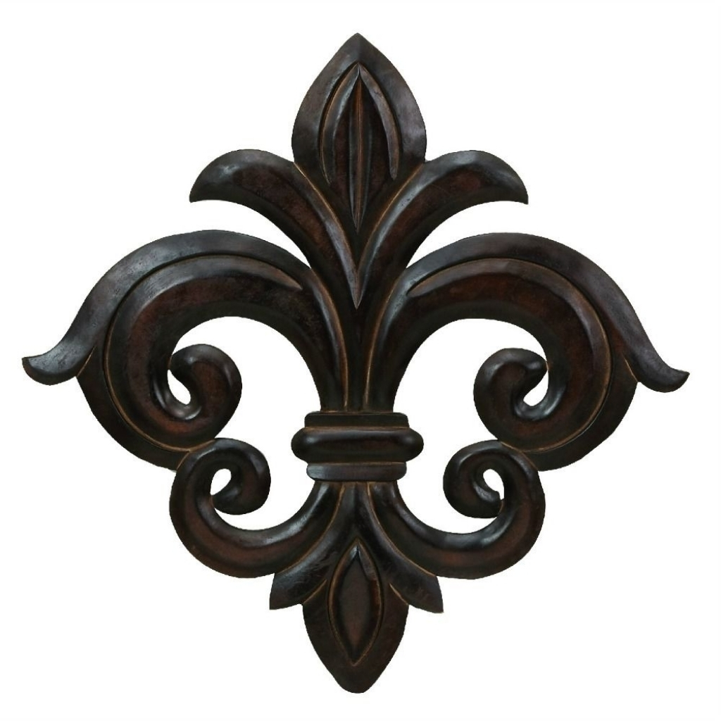 Large Wall Art French Quarter Fleur De Lis Sculpture Accent Decor Regarding 2017 Fleur De Lis Wall Art (View 14 of 20)