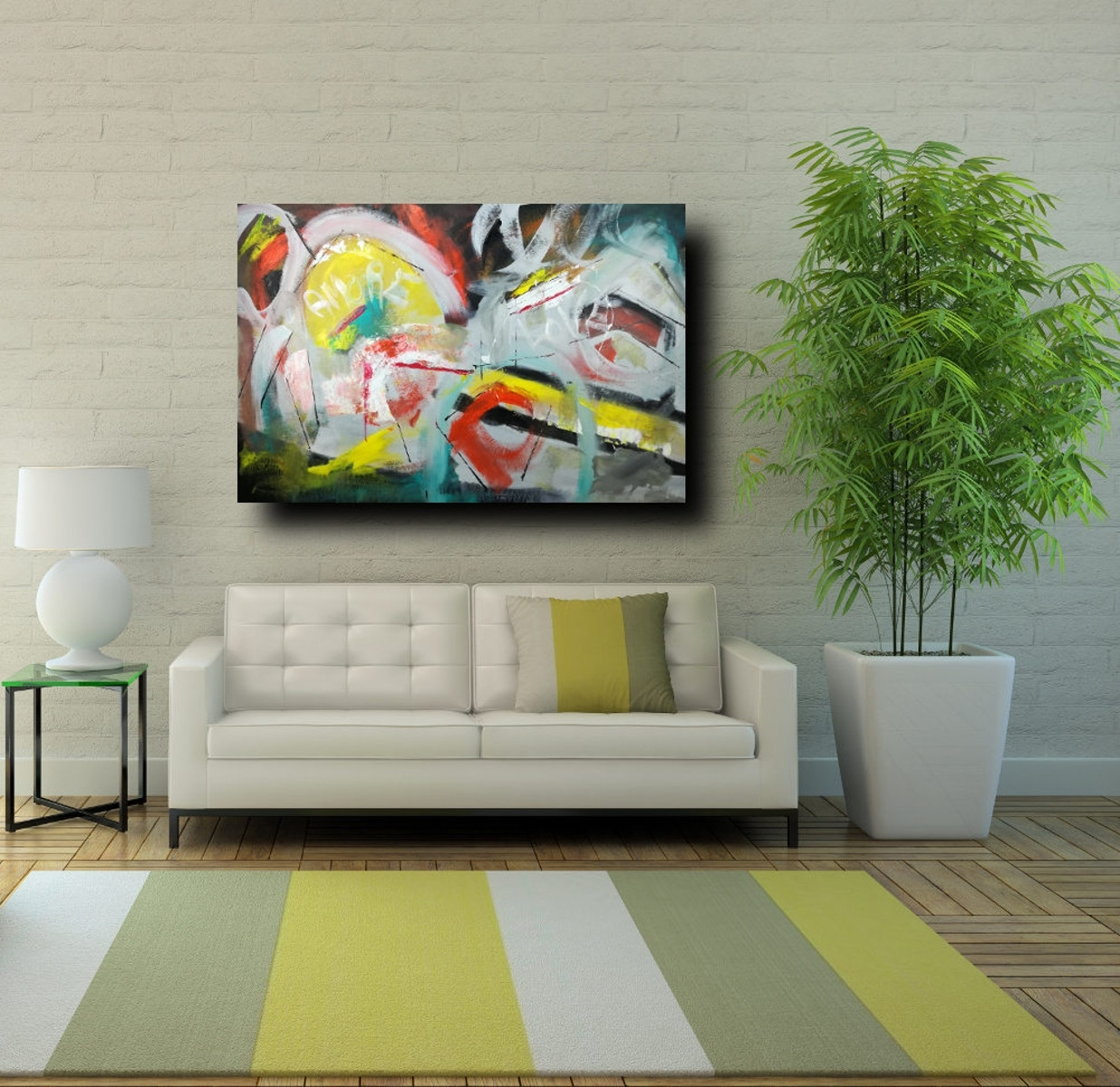Large Wall Art Modern On Canvas 120X80 intended for Most Current Modern Large Canvas Wall Art