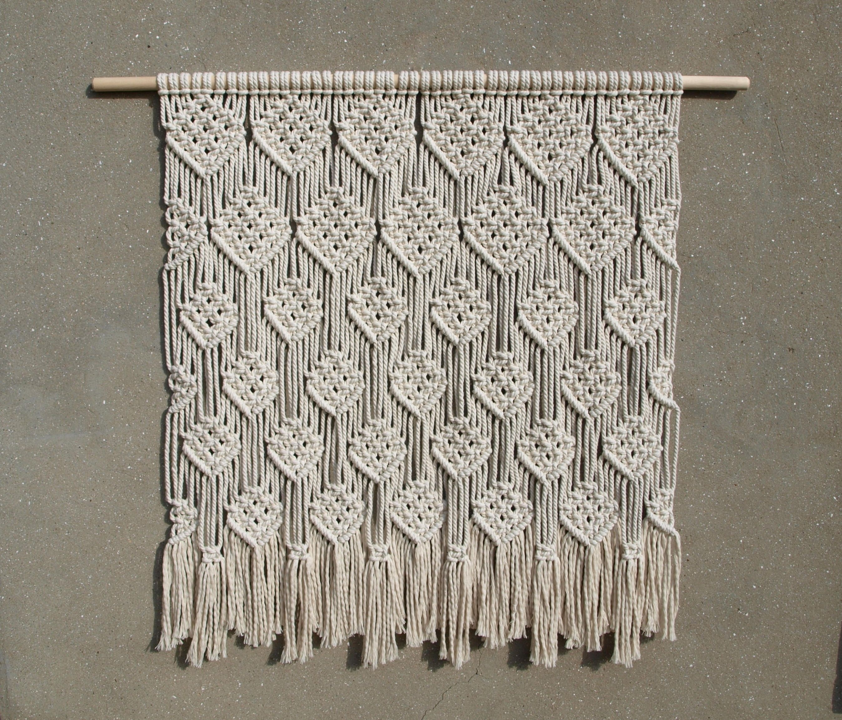Large Wall Decor Bohemian Wall Hanging Large Tapestry Macrame Wall Intended For 2018 Bohemian Wall Art (Gallery 13 of 20)