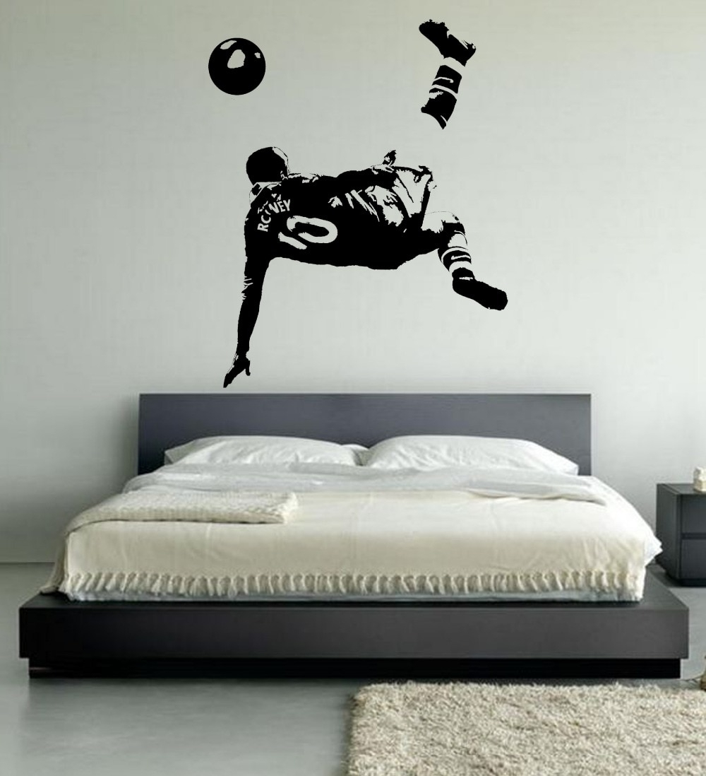 Large Wayne Rooney Wall Art Bedroom Footballer Football Soccer Regarding Best And Newest Soccer Wall Art (View 7 of 20)