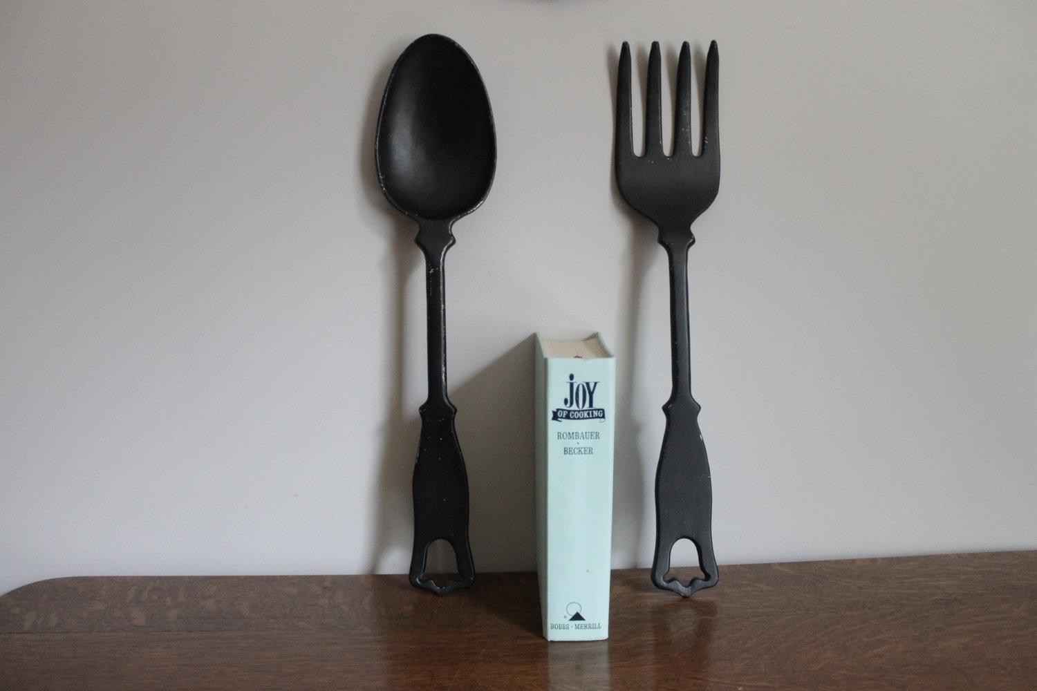 Large Wood Spoon And Fork Wall Art Big Spoon And Beautiful Oversized With Regard To Most Current Fork And Spoon Wall Art (View 11 of 20)