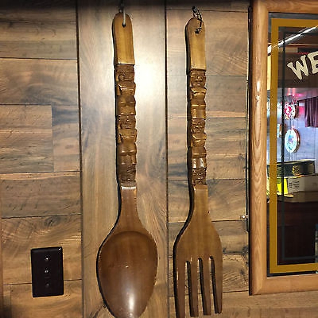 Large Wood Spoon And Fork Wall Art – Wooden Furnitures Within Newest Fork And Spoon Wall Art (View 10 of 20)