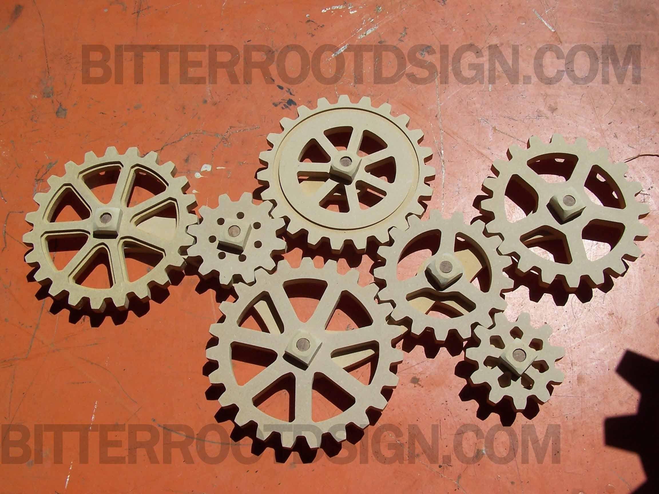 Large Wooden Gears – Kinetic Wall Art – Wood Gears – Cogs Within 2018 Kinetic Wall Art (View 14 of 20)