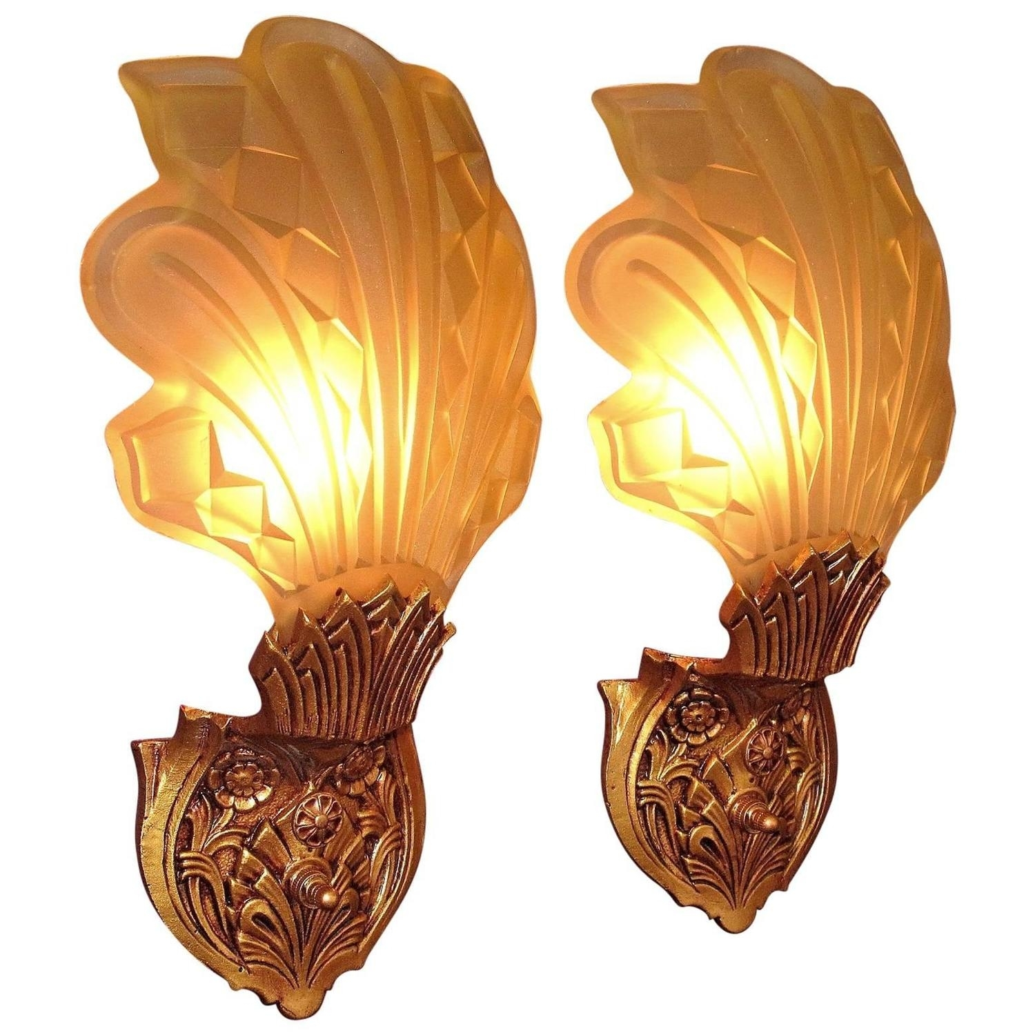 Late 1920S Early 1930S Art Deco Wall Sconces For Sale At 1Stdibs Pertaining To Latest Art Deco Wall Sconces (View 15 of 20)