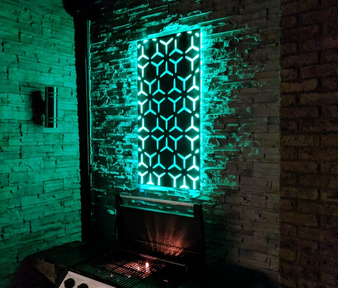 Led Wall Art ; So Much More Than Flat Metal Panels – The Ideal Garden With Regard To Most Current Led Wall Art (Gallery 4 of 20)
