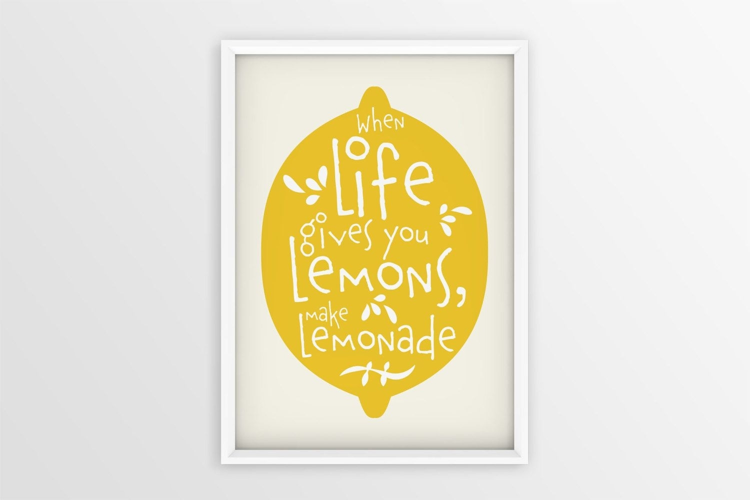 Lemonade Wall Art | If Life Gives You Lemons Make Lemonade | Lemon Pertaining To Latest Lemon Wall Art (View 7 of 20)