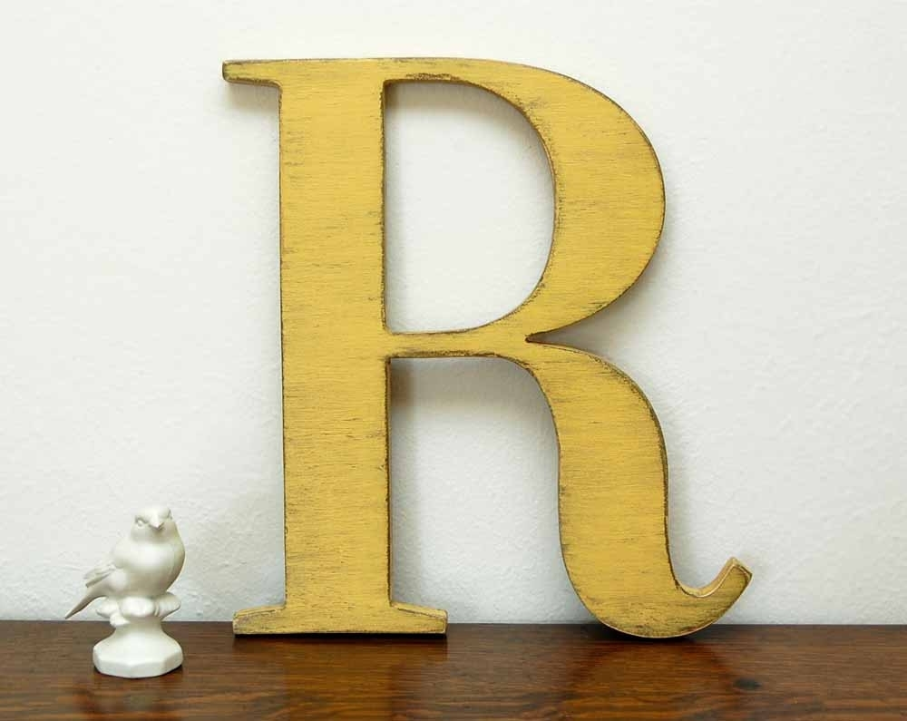 Letter R Wall Decor – Solid.graphikworks.co Throughout Most Recent Metal Letter Wall Art (Gallery 17 of 20)