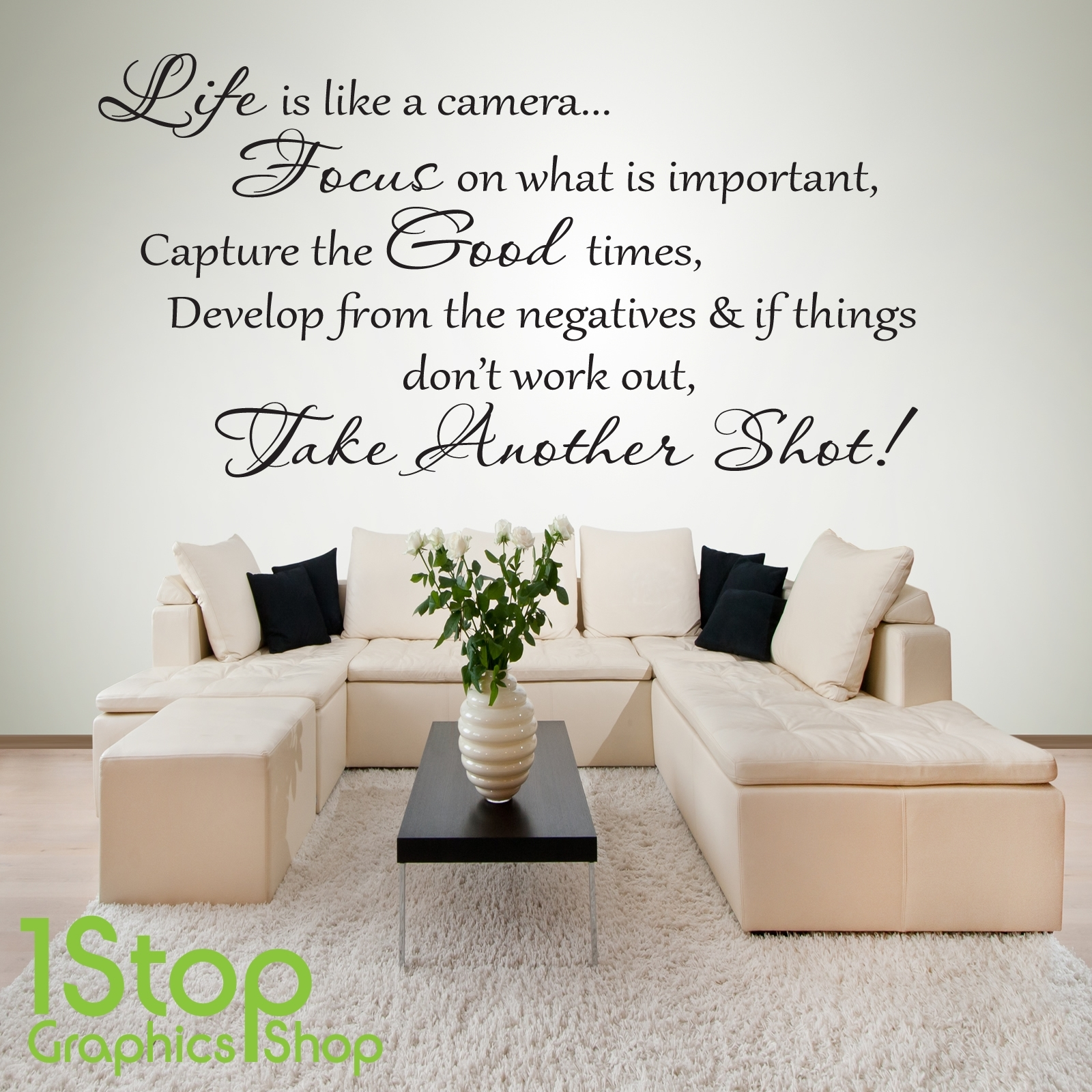 Life Is Like A Camera Wall Sticker Quote – Bedroom Home Wall Art In Most Current Wall Sticker Art (View 8 of 15)