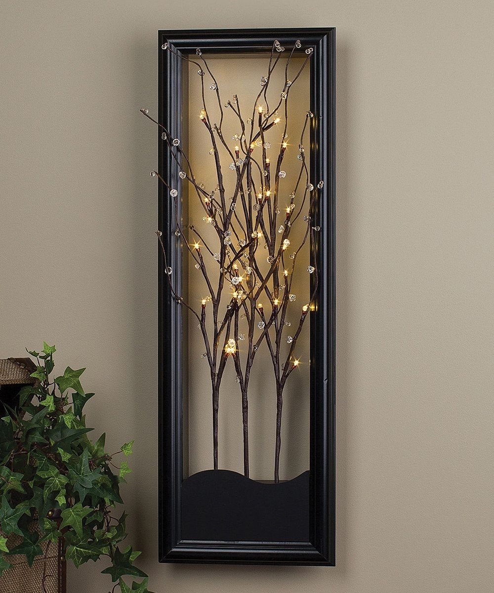Light-Up Willow Branch Wall Artthe Gerson Company #zulily pertaining to Current Light Up Wall Art