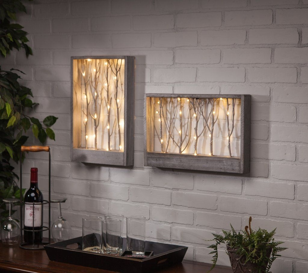 Lighted Branch Wall/table Decor (View 9 of 20)