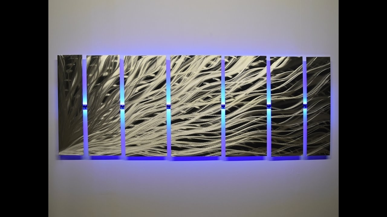 "Lighted Wall Art ""silver Rush"" Led Metal Wall Artdv8 Studio 2017 With Regard To Latest Led Wall Art (Gallery 11 of 20)"