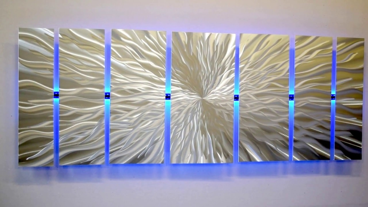 "Lighted Wall Artmetal Artist Brian Jones ""cosmic Energy"" Led Regarding 2017 Lighted Wall Art (Gallery 3 of 20)"