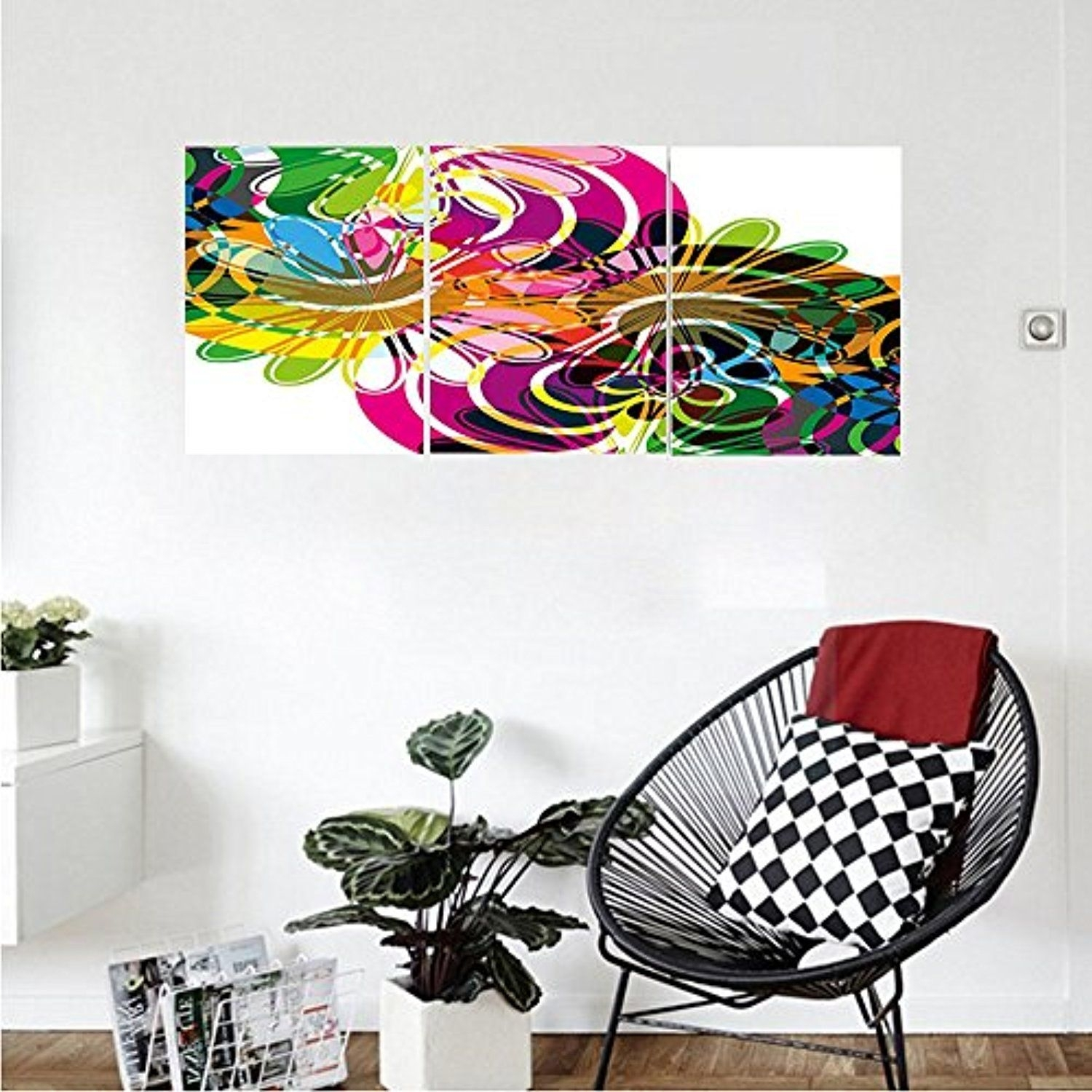 Liguo88 Custom Canvas Modern Decor Rainbow Colorful Abstract Decor With Newest Modern Wall Art Decors (View 7 of 20)