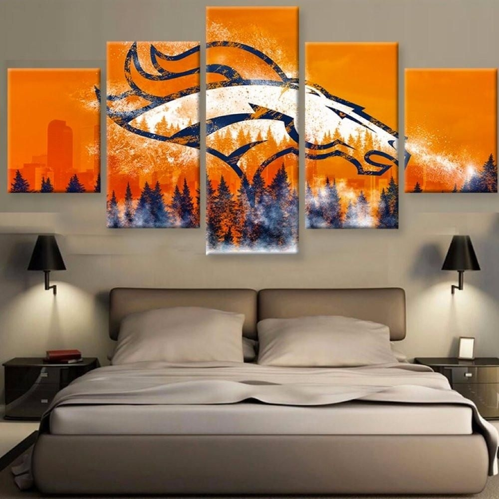 Limited Edition Broncos 5 Piece Canvas | Canvases And Broncos Fans Throughout Most Recent Broncos Wall Art (Gallery 3 of 20)