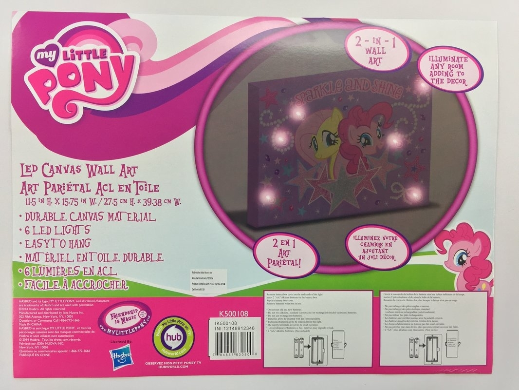 Linen Depot Direct 'my Little Pony Sparkle And Shine' Graphic Art On Within Most Recently Released My Little Pony Wall Art (View 6 of 20)